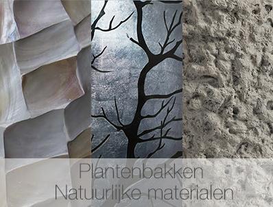 Plantenbakken natuurlijke materialen