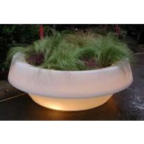 Ronde plantenbak met licht