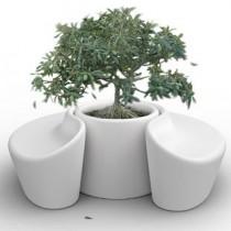 Bankje Sardana en plantenbak (combi-pakket)
