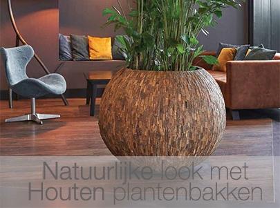 Langwerpige Houten Plantenbakken Voor Buiten.Design Plantenbakken En Originele Bloempotten Designpotten Nl
