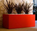 Vierkante plantenbakken